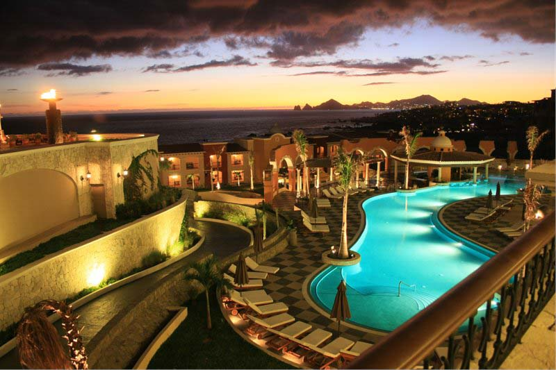 Hacienda Encantada Resort & Spa   Sunset